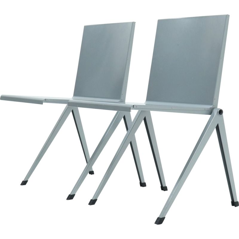 Pair of vintage Dining Chairs by Gerrit Rietveld Gispen Mondial 1958