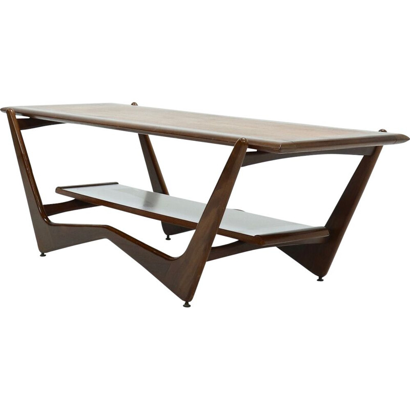 Vintage Sculptural Teak Coffee Table 1960