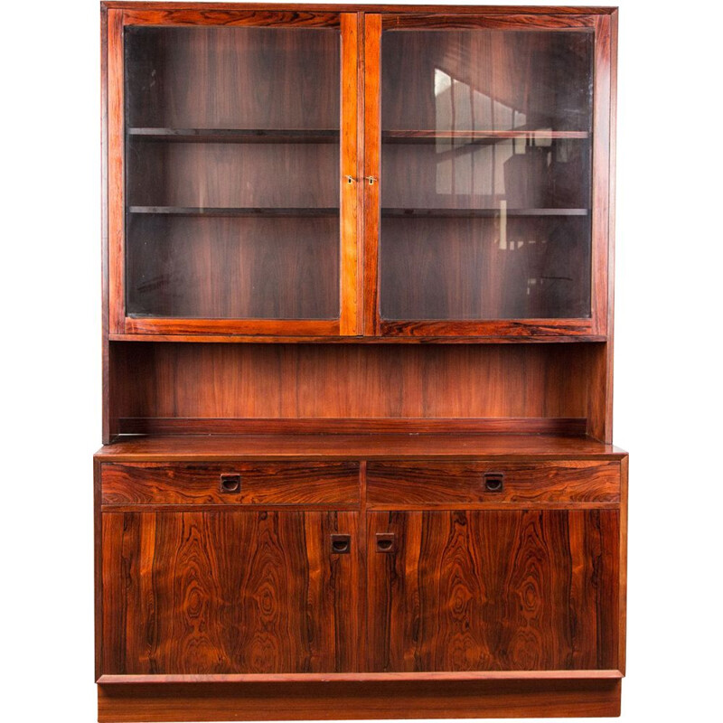 Vintage buffet-library showcase in Rio Rosewood by Erik Brouer from Denmark