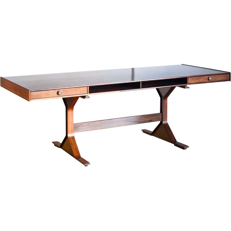Vintage rosewood desk by Gianfranco Frattini for Bernini
