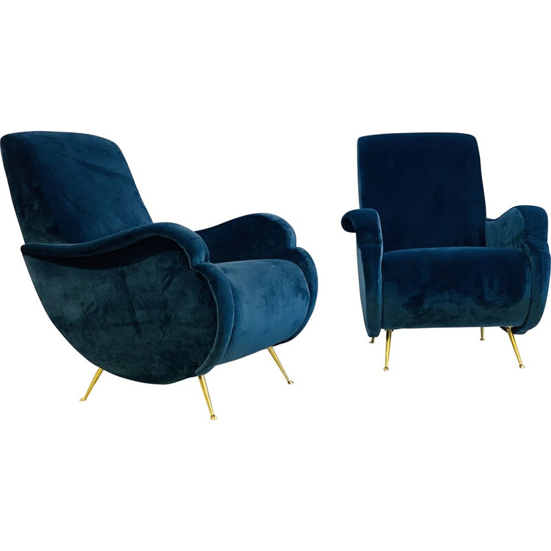 Pair of Vintage Armchairs Italian