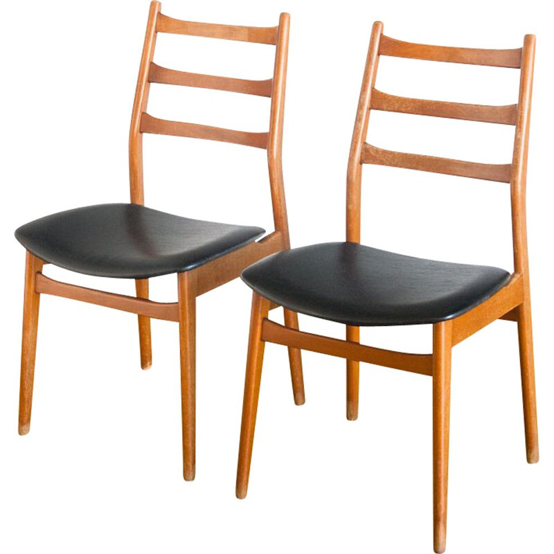 Pair of vintage chairs scandinavian France 1960