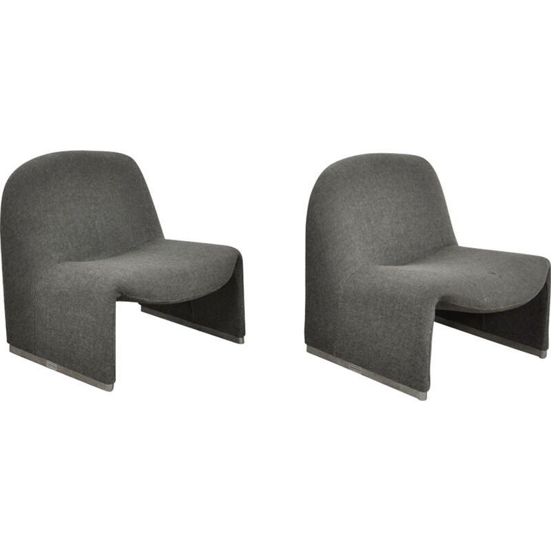 Pair of vintage armchairs by Giancarlo Piretti for Anonima Castelli 1970s