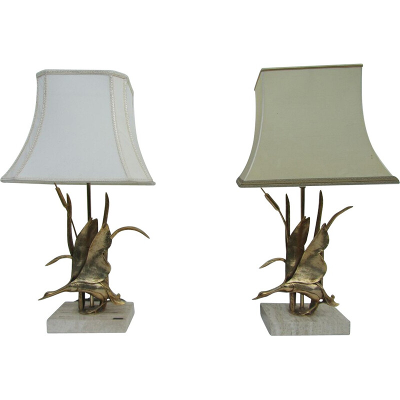 Set of 2 Lancia table lamps - 1970s