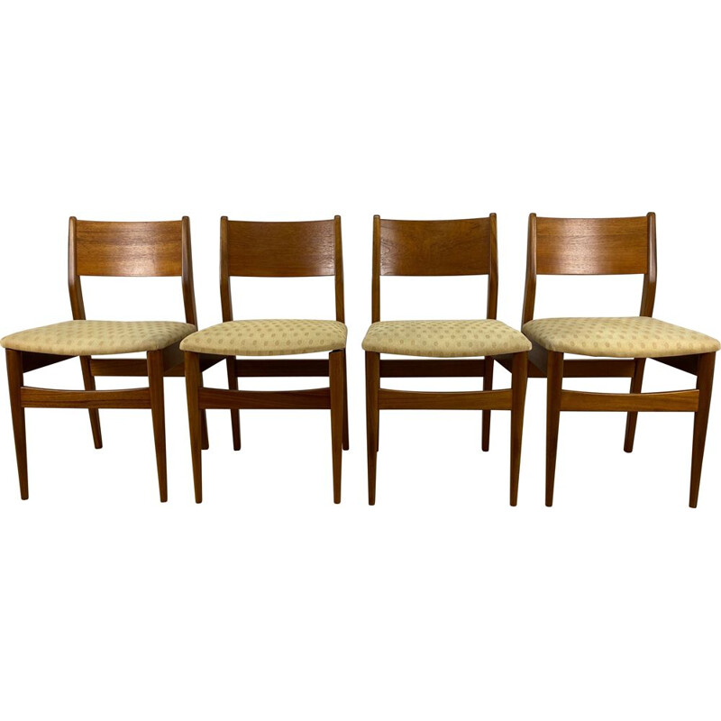 Set of 4 Mid Century Dining Chairs United Kingdom 1960s