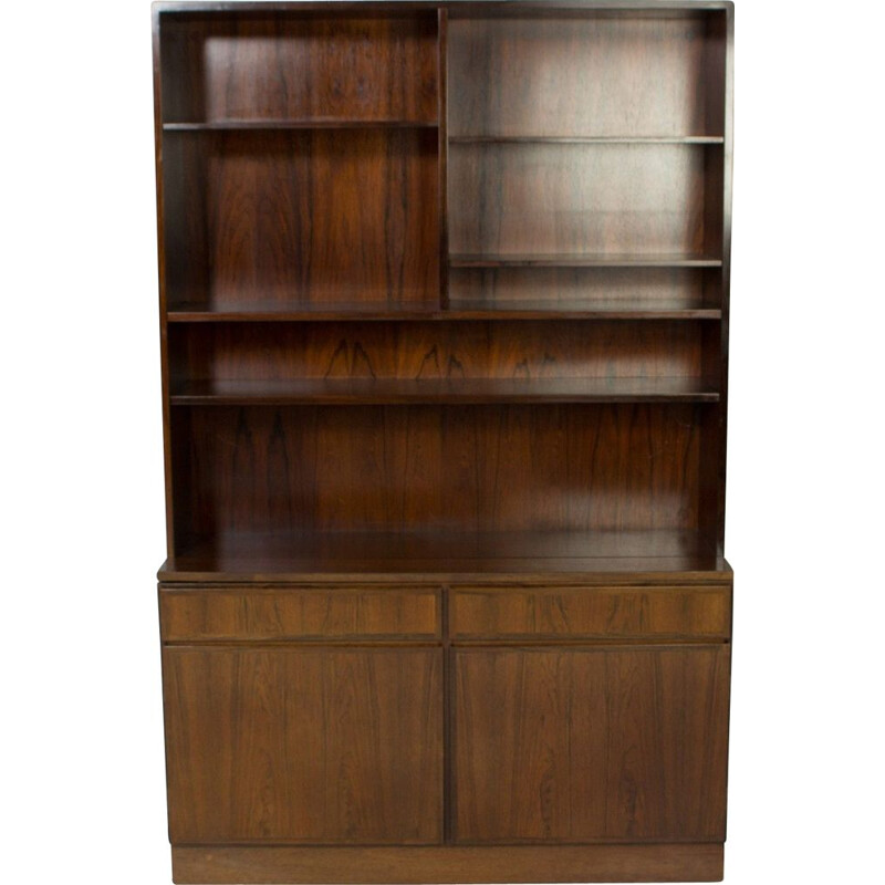 Vintage Rosewood Book case  Display case  Omann Jun 1960