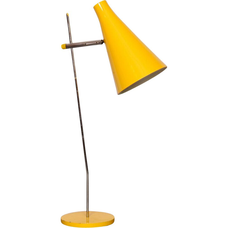 Vintage yellow lamp by Josef Hurka for Lidokov, 1960