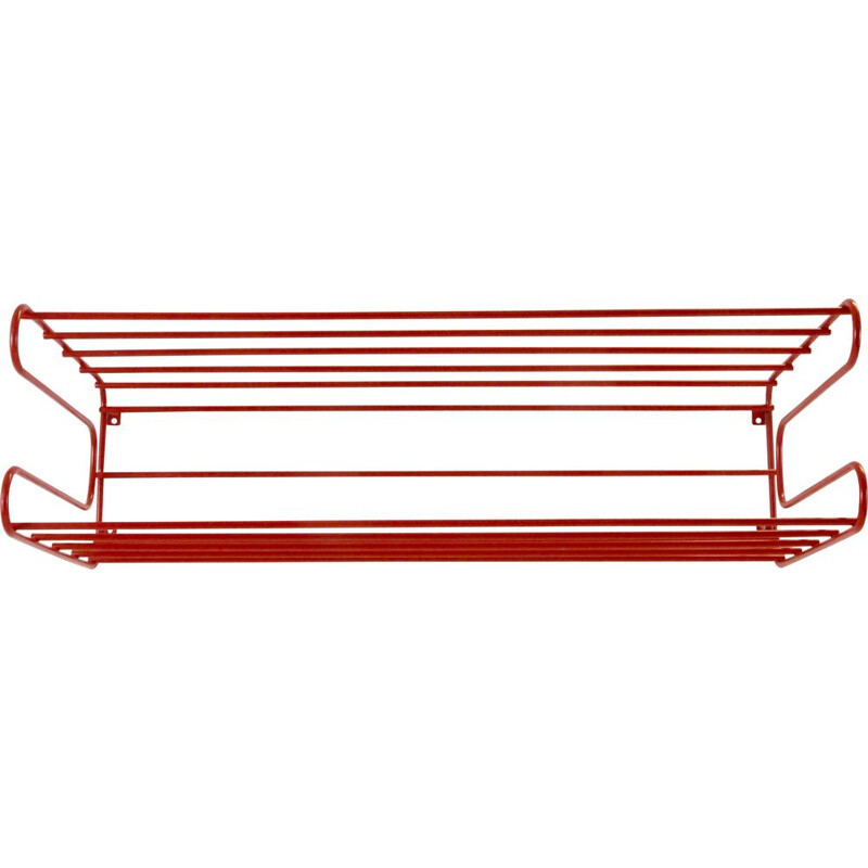 Vintage IKEA red wall rack from the Eighties in Memphis, Pilastro or Tomado 1980s