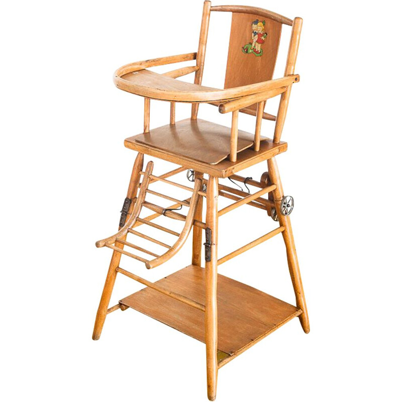 Vintage high chair for children Convertible France, 1950