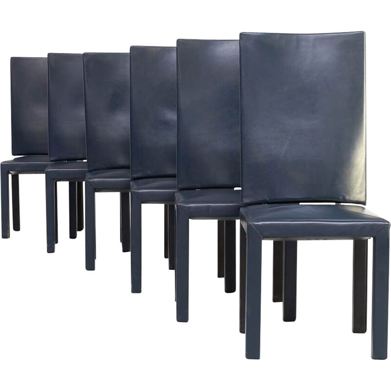 Set 6 vintage Paolo Piva 'arcadia' dining chairs for B & B Italia 1990s