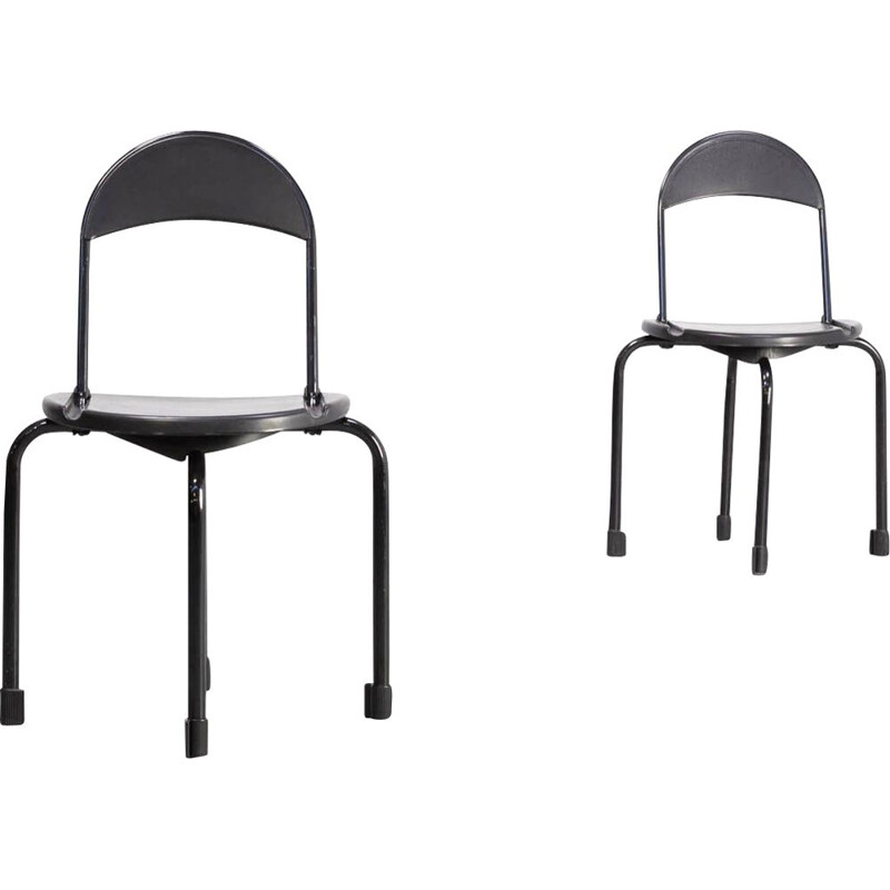 Pair of Vintage Lucci 'clark ck3' folding chair for Lamm Paolo Orlandini & Roberto 1980s