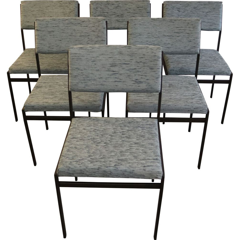 Set of 6 vintage 'SM07' dining chairs from Cees Braakman for Pastoe Netherlands 1960s
