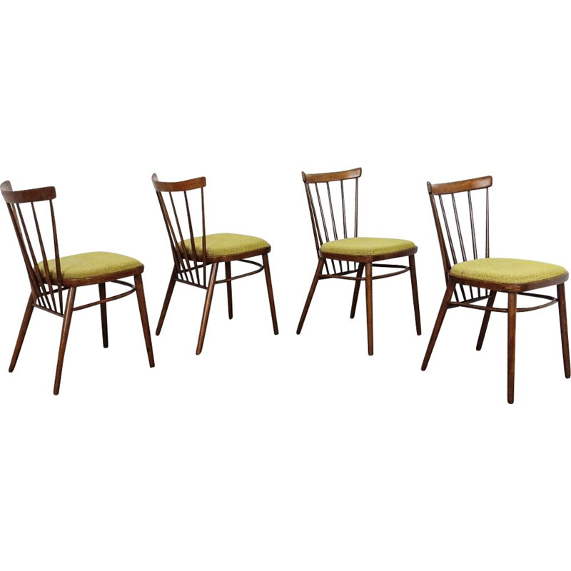 Set of 4 vintage chairs, by Antonin Suman, Czechoslovakia 1960
