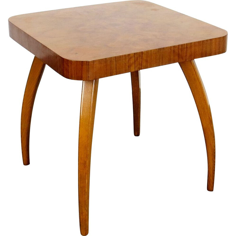 Vintage side table by Jindrich Halabala Czechoslovakia 1950s