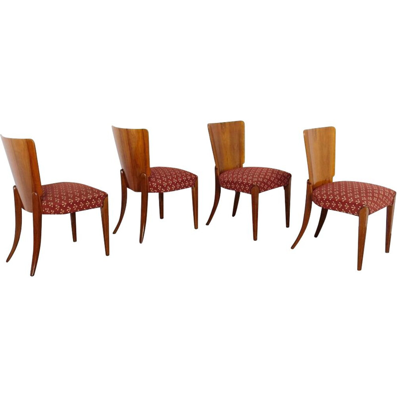 Set of 4 vintage Dining chair Czechoslovakia 1940s