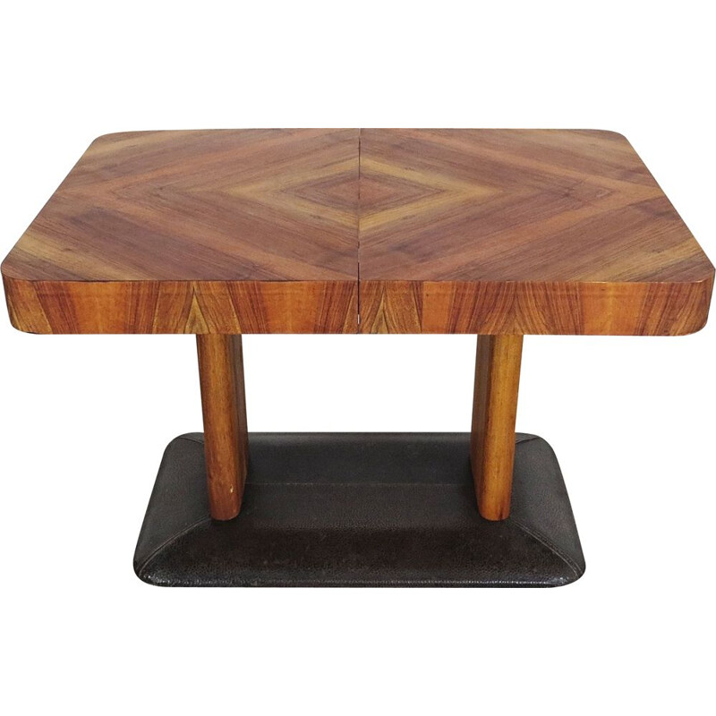 Vintage Dining table by Jindrich Halabala Czechoslovakia 1930s