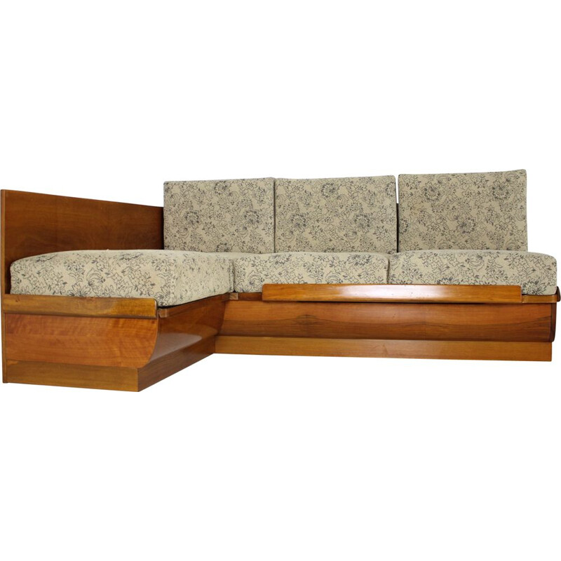 Mid-century sofabed by Jindřich Halabala, 1960s