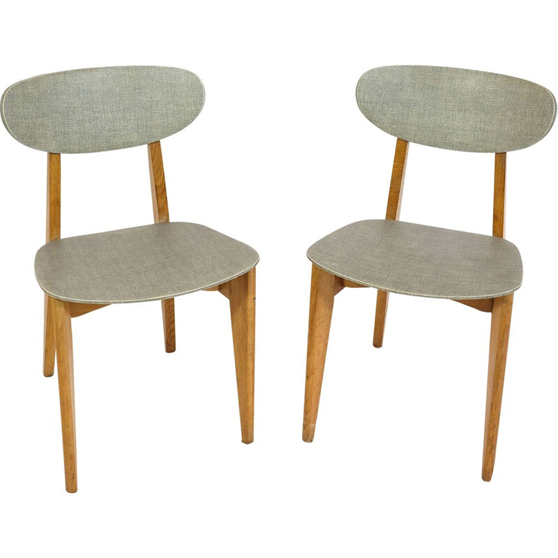 Pair of vintage chairs Roger Landault Sentou 1950
