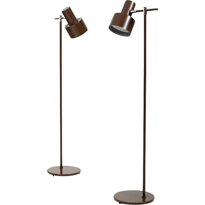 Pair of vintage Studio Floorlamps by Jo Hammerborg for Fog & Mørup 1960s