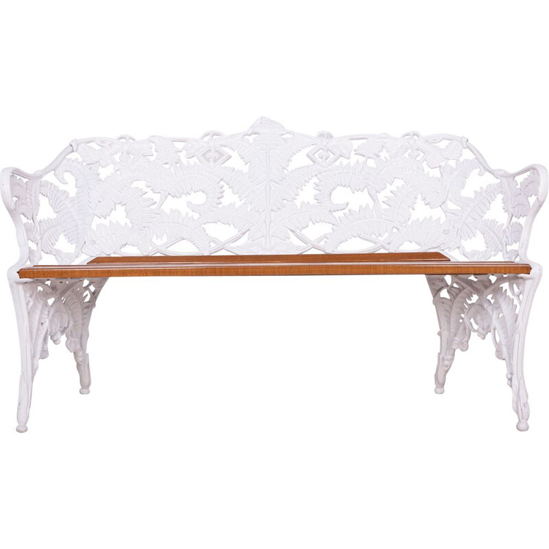 Vintage Garden Bench in cast iron from Melins,Swedish  1950s