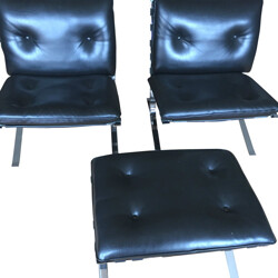 """Pair of """"Joker"""" Airbone low chairs, Olivier MOURGUE - 1960s"""