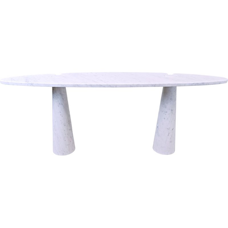Vintage white marble console by Angelo Mangiarotti