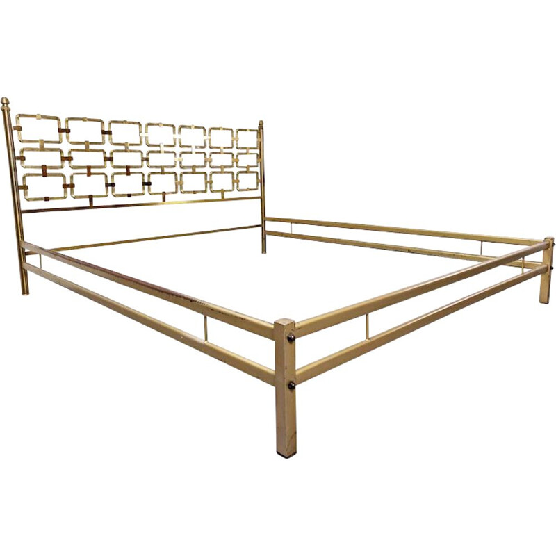 Vintage Brass Bed by Luciano Frigerio, 1970s