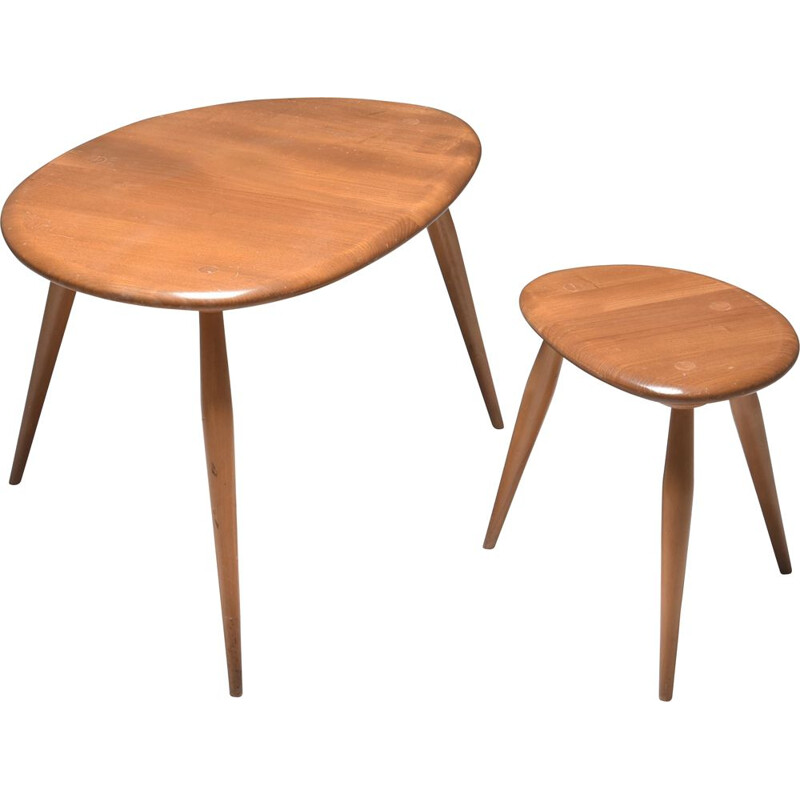 Vintage nesting tables Ercol 1950