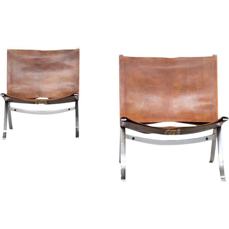 Pair of Vintage easy chair for Arnold Exclusive Preben Fabricius 1970s