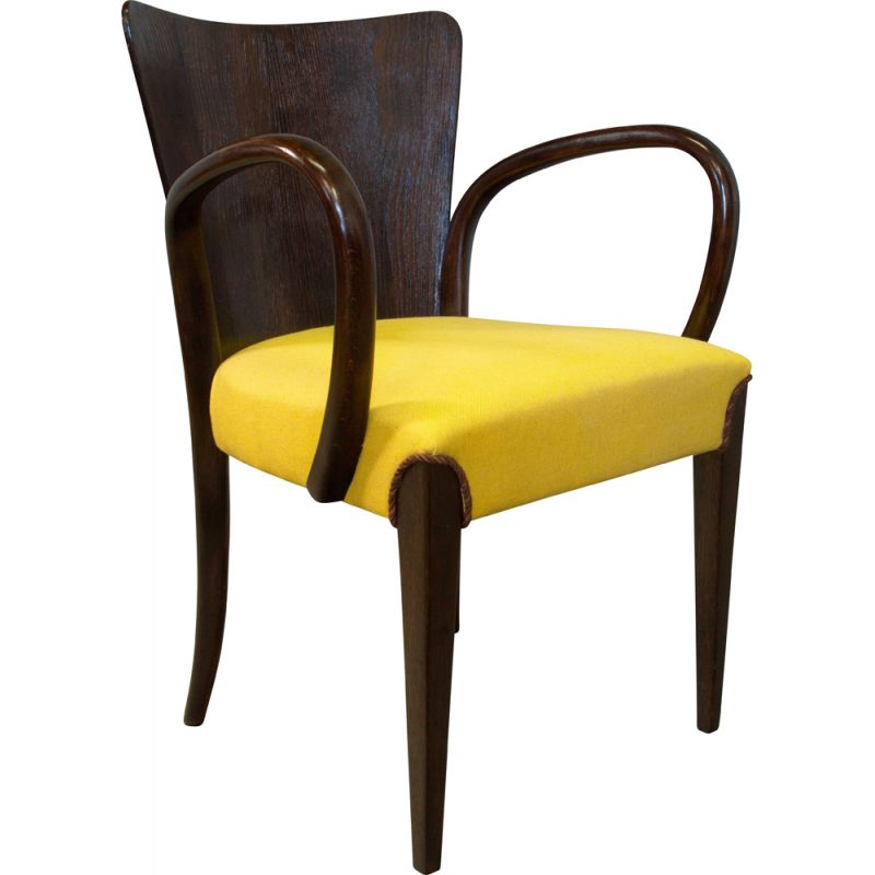 Vintage H-214 Dining Chair by Jindrich Halabala for UP Brno 1950