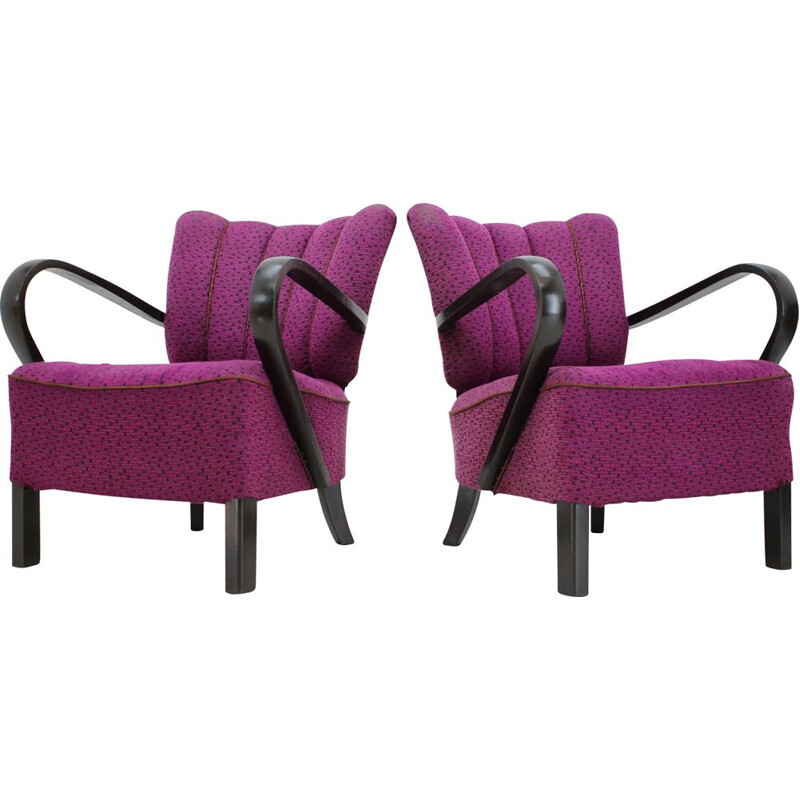 Pair of vintage armchairs by Jindřich Halabala, Czechoslovakia 1940