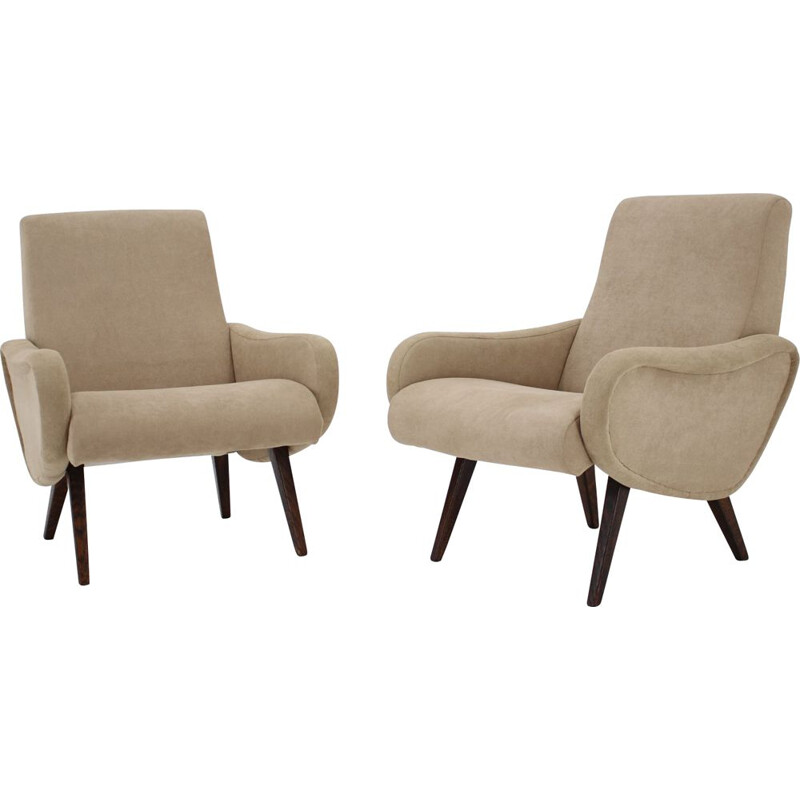 Pair of vintage armchairs by Marco Zanuso, Italy 1951