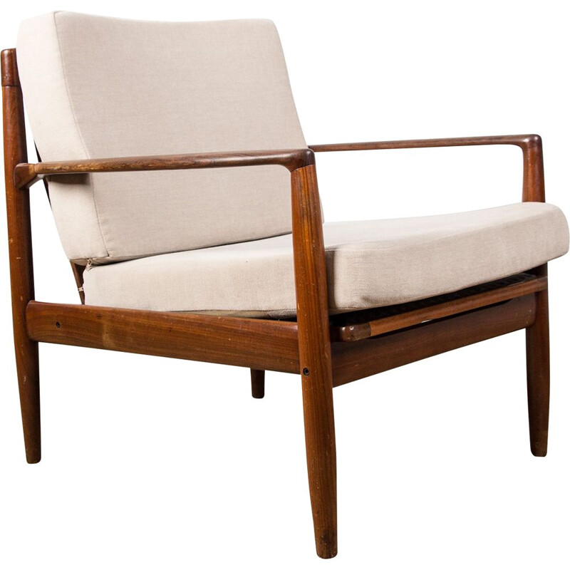 Pair of vintage teak armchairs by Ib Kofod Larsen, Dane 1960