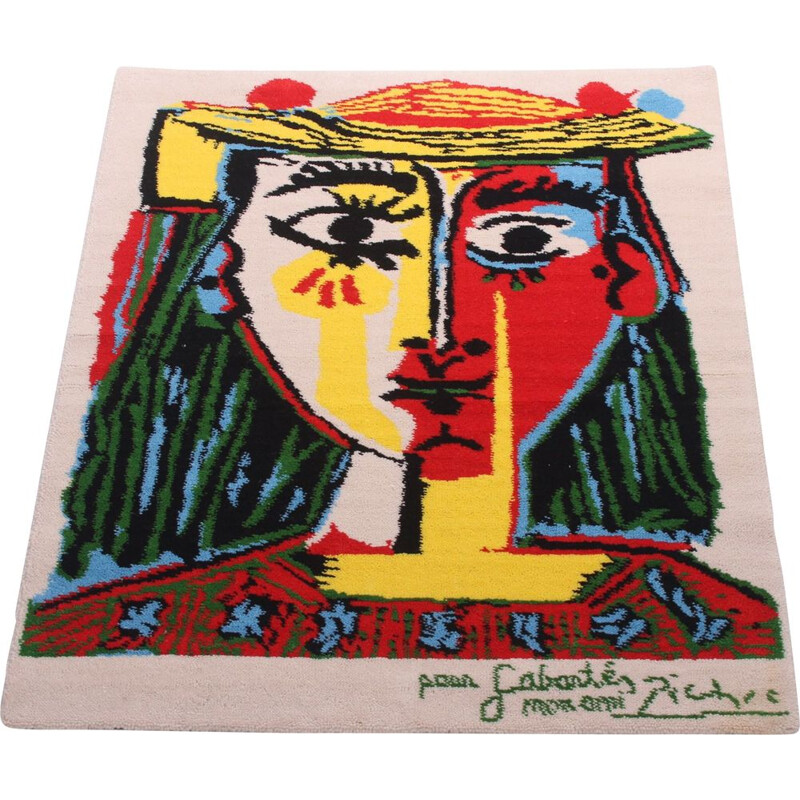 Vintage tapestry in pure wool design by Pablo Picasso by Desso, Netherlands 1962