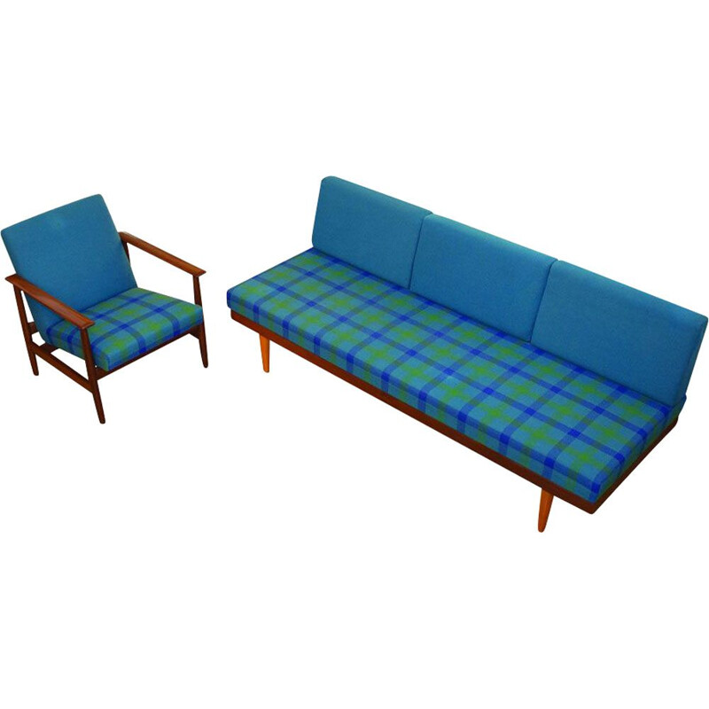 Vintage daybed set with Easy chair by Ingmar Relling for Ekornes, Svanette Norway 1960