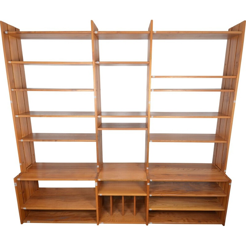 Vintage bookcase shelves Regain Pierre Chapo 1970