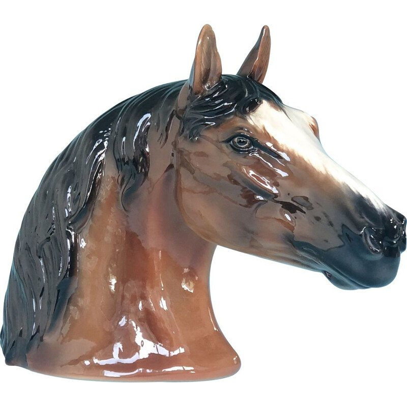 Vintage Porcelain Head of a Horse Italy 1974