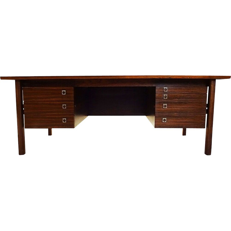 Large vintage Rosewood desk by Arne Vodder for Sibast Danish