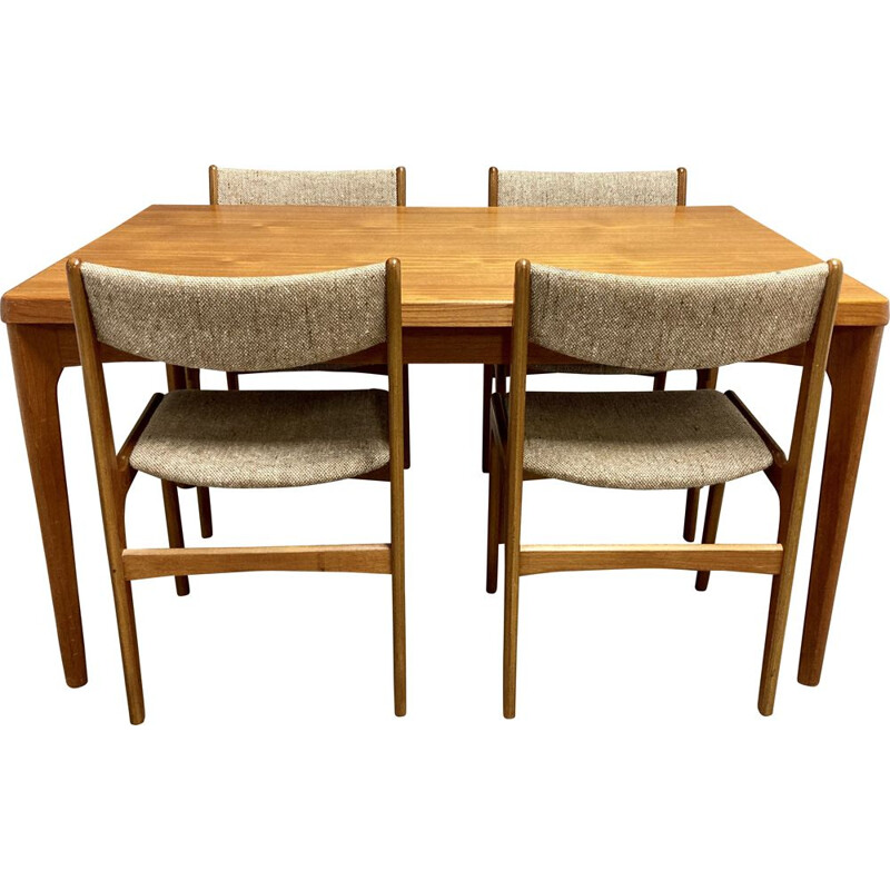 Vintage table and chairs set Scandinavian  1950's