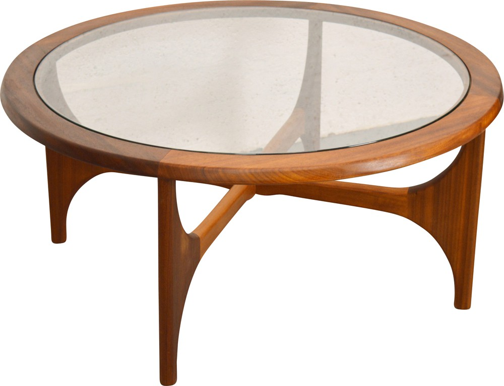 Stonehill mid-century coffee table in teak and glass ...