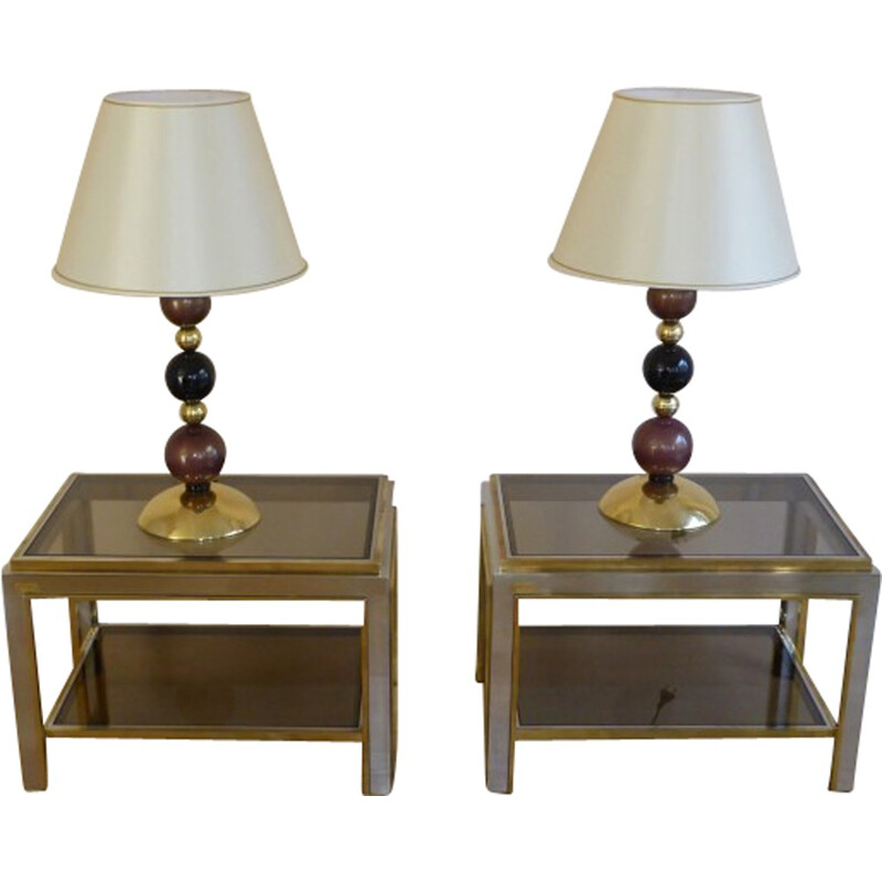 Pair of side tables, Romeo REGA - 1970s