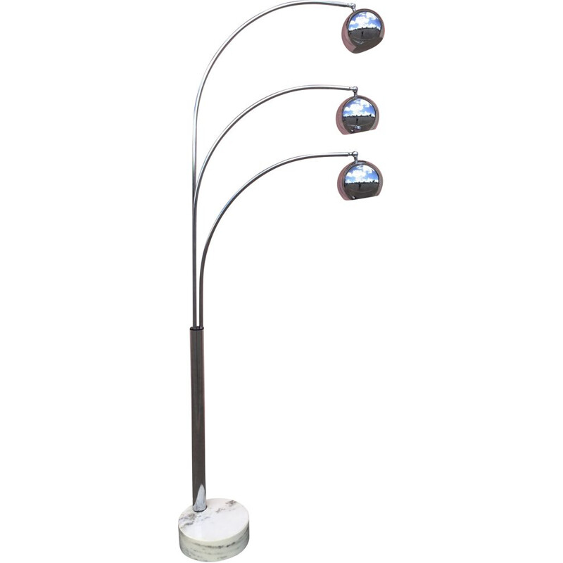Vintage floor lamp lily of the valley of gioffredo regianni
