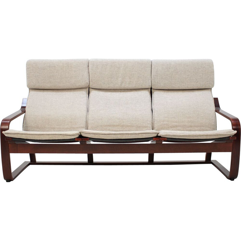 Vintage 3-seater sofa Bentwood by Ton, Czechoslovakia 1980