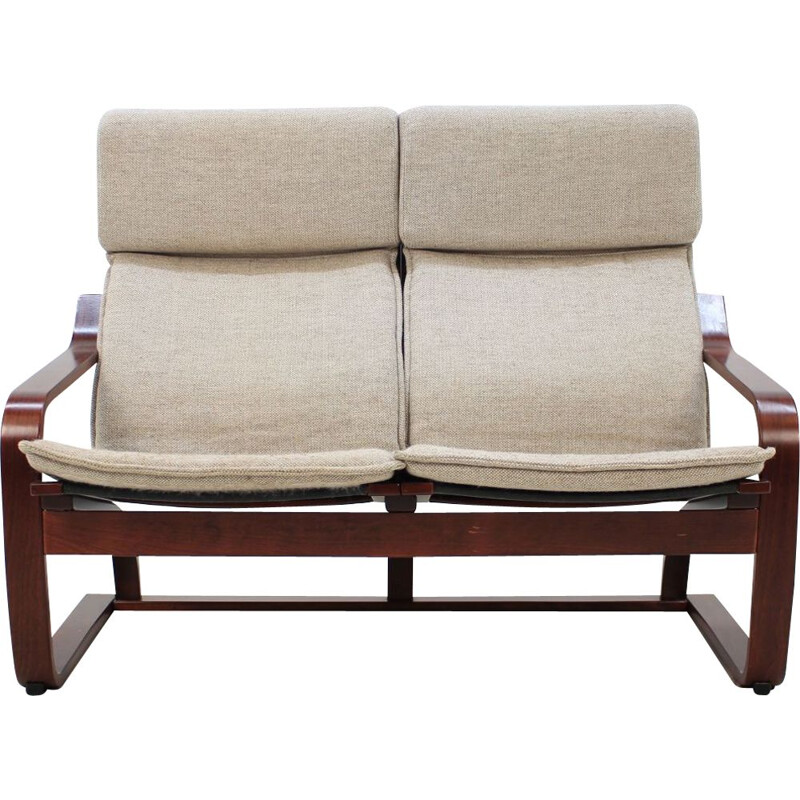 Vintage 2-seater sofa Bentwood by Ton, Czechoslovakia 1980