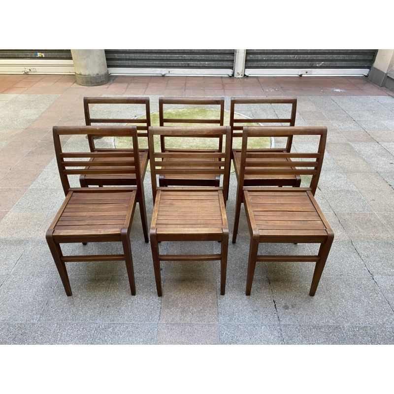 Suite of 4 vintage chairs by René Gabrie, 1947