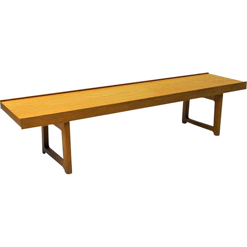 Vintage Krobo bench in Oak by Torbjørn Afdal for Bruksbo Norway 1960s