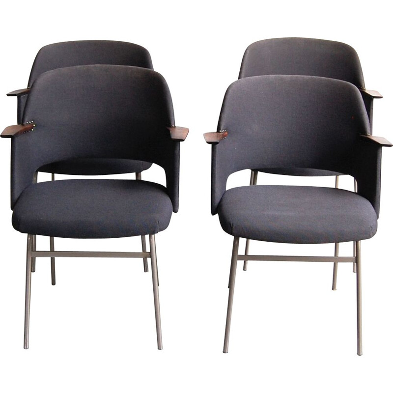 Set of 4 vintage armchairs FM33 by Cees Braakman for Pastoe 1962