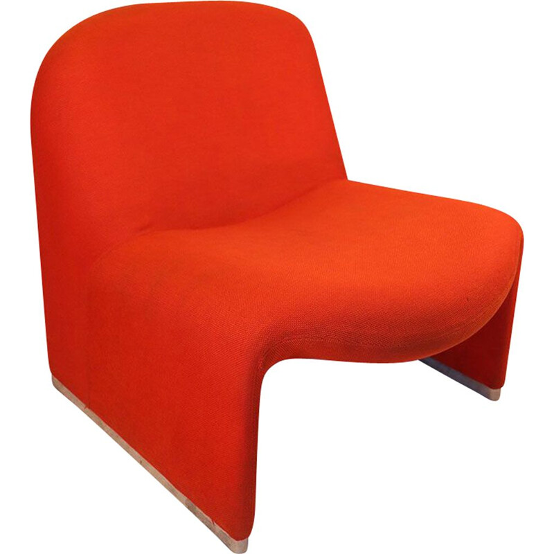 "Vintage Fireside chair ""Alky"" by Giancarlo Piretti for Castelli 1970"