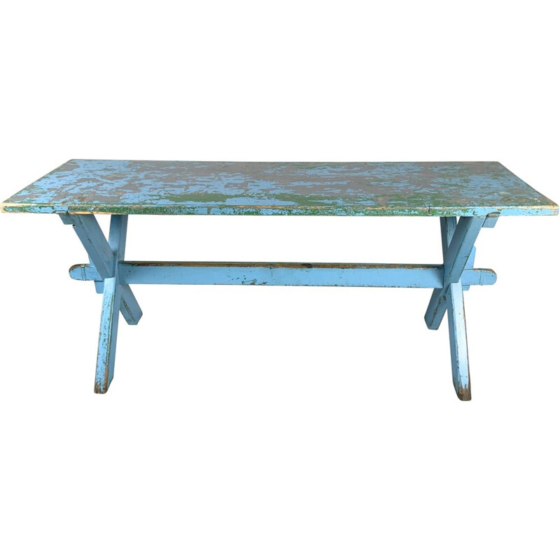 Vintage Solid All-wood Table with Original Patina, 1910s