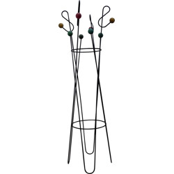 Coat rack with multicolored balls, Roger FERAUD - 1960s